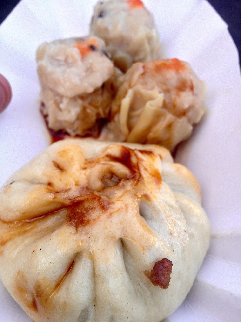 Chinese pork bun and dumplings