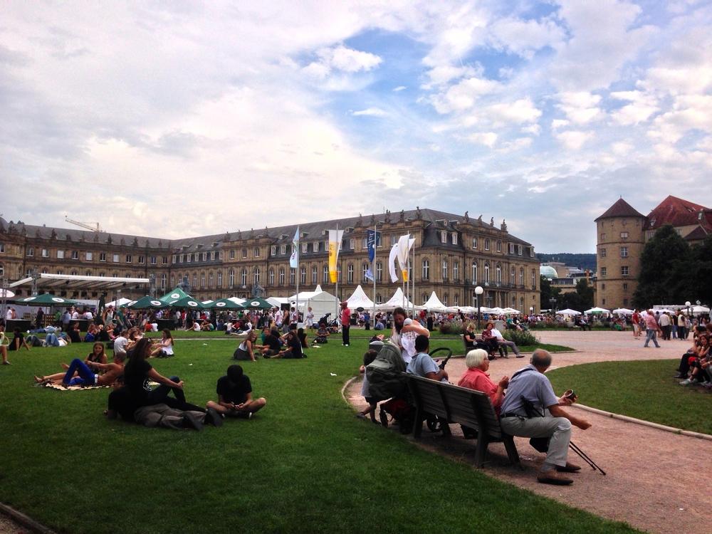 Festival-goers at the Stuttgart  Sommerfest