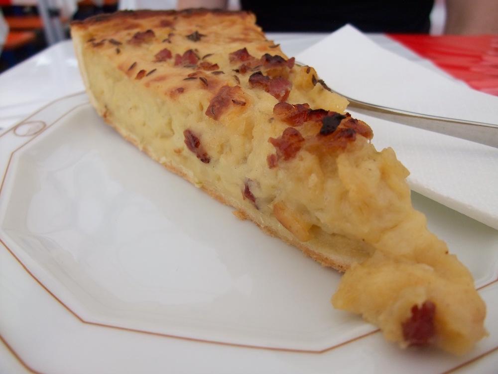 Zwiebelkuchen,aka German onion tart