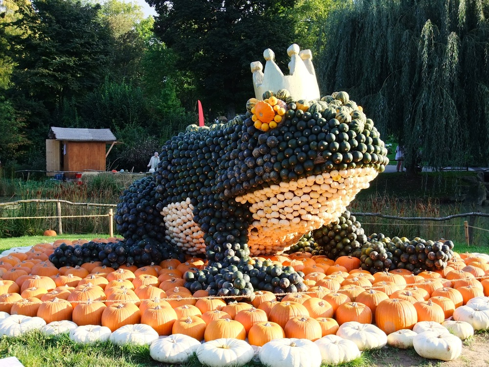 A pumpkin creation from last year's pumpkin festival in Ludwigsburg