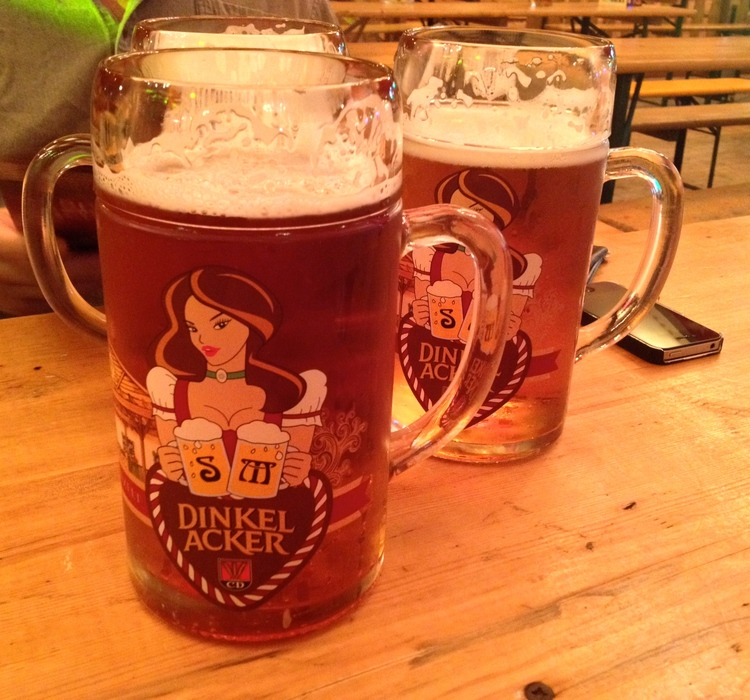 Two  Maß  of beer at the  Canstatter Volksfest