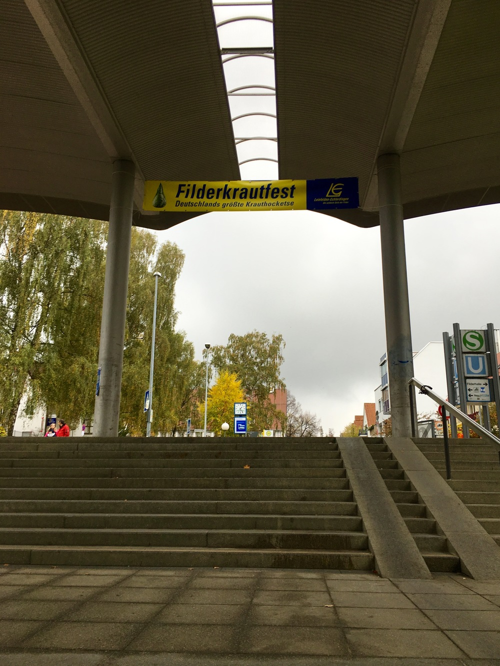 Our welcome to the festival at the  Leinfelden U-bahn  station