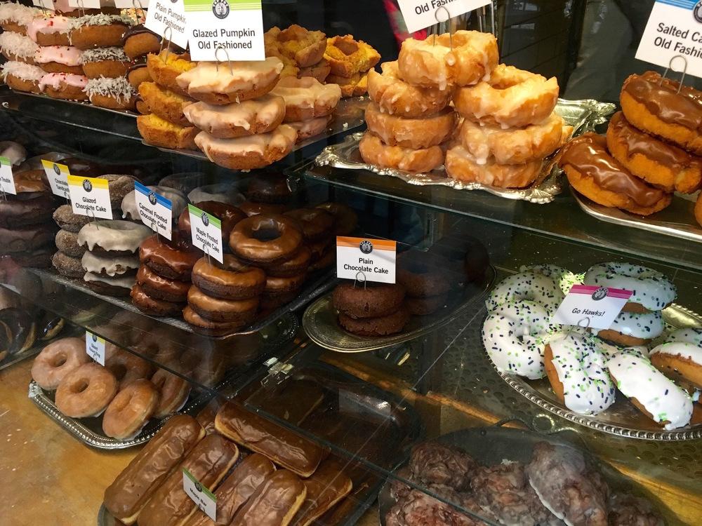 The doughnut selection at Top Pot