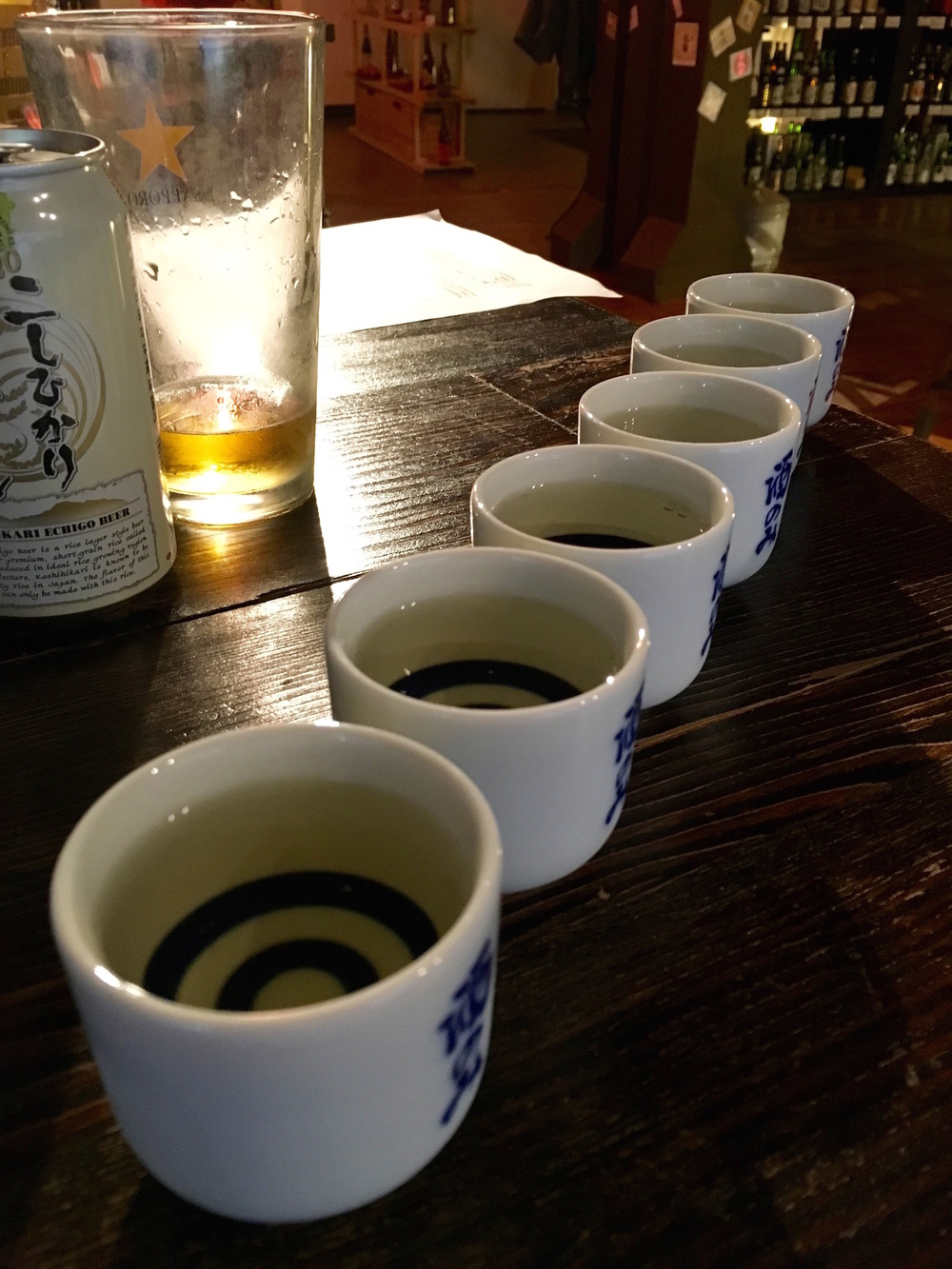 Saké tasting at  Saké Nomi