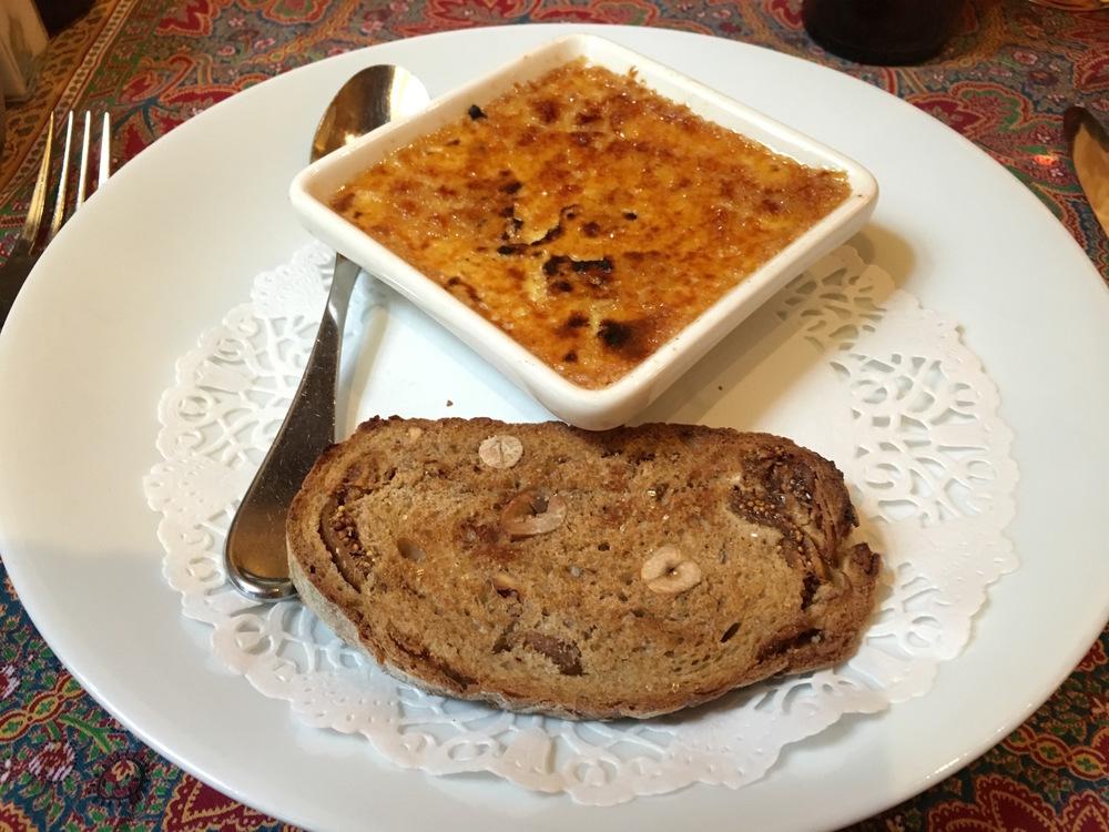 Crème Brûlée au Foie Gras at Chez Yvonne
