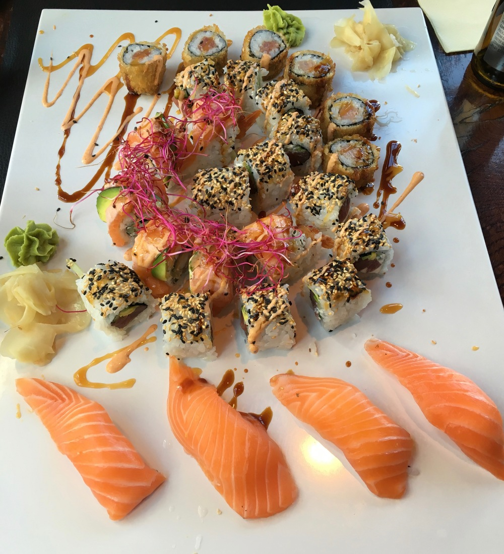Two Daily Sushi Lunch Specials and one Tiger Roll