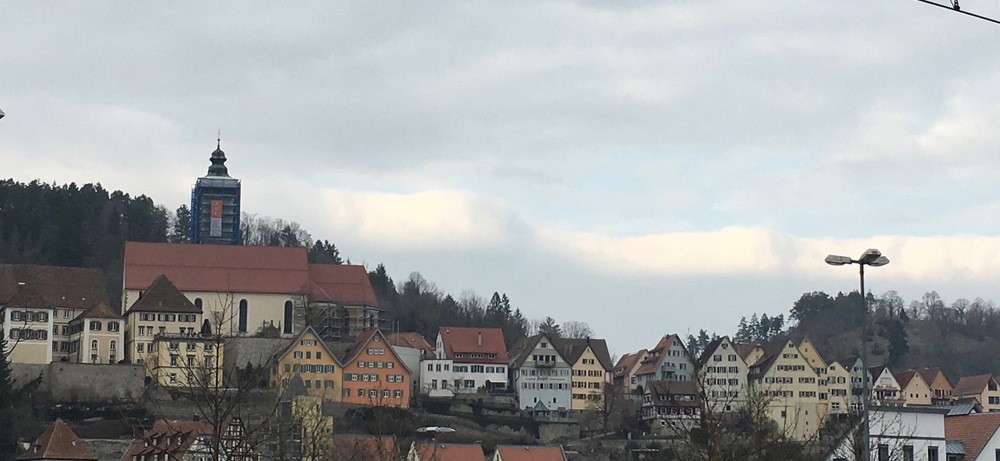 Horb am Neckar from the train station