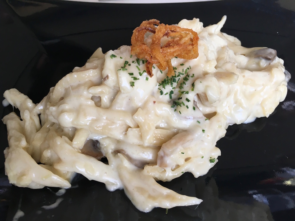 The finished  Käsespätzle