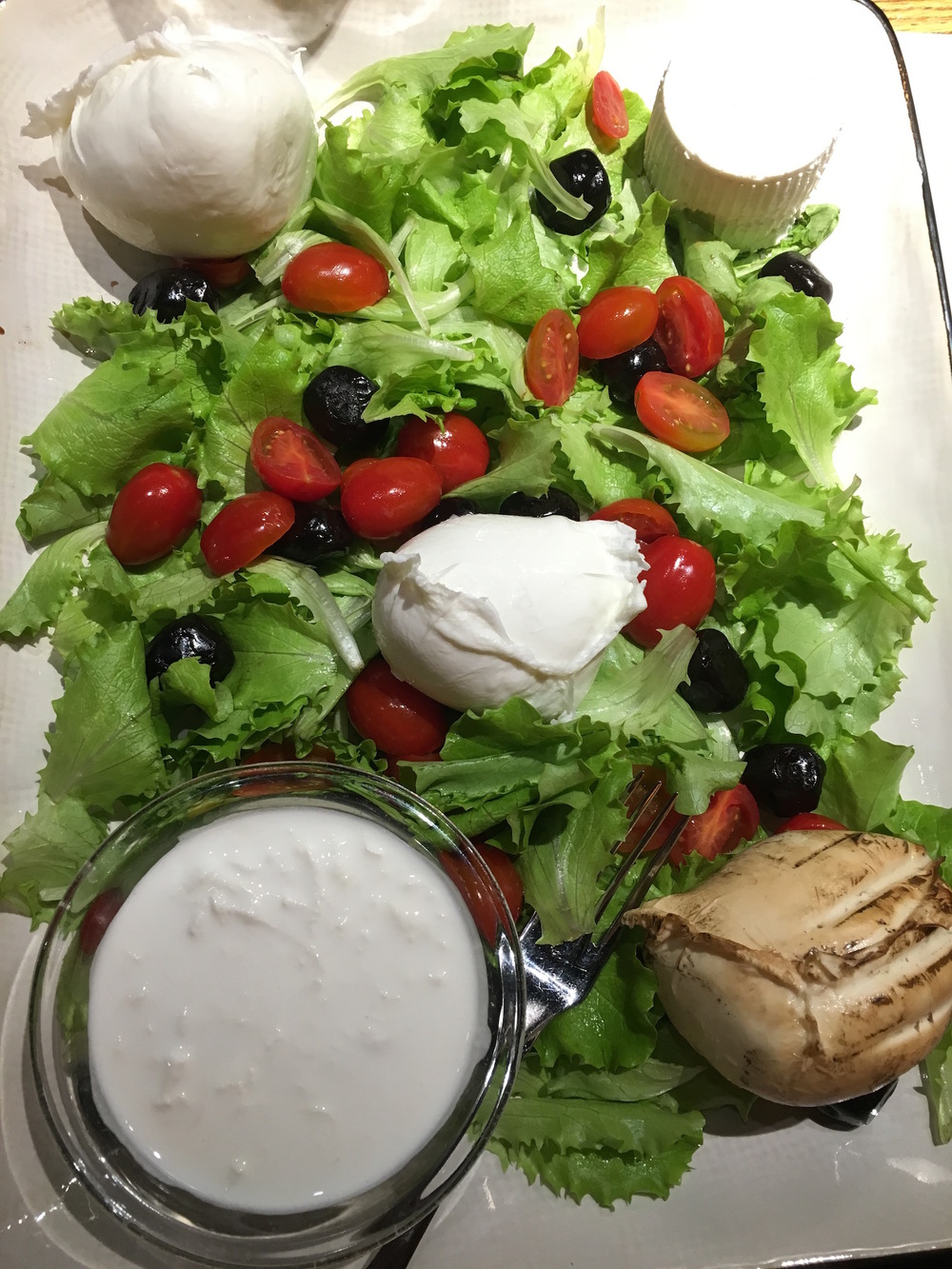The mozzarella tasting platter