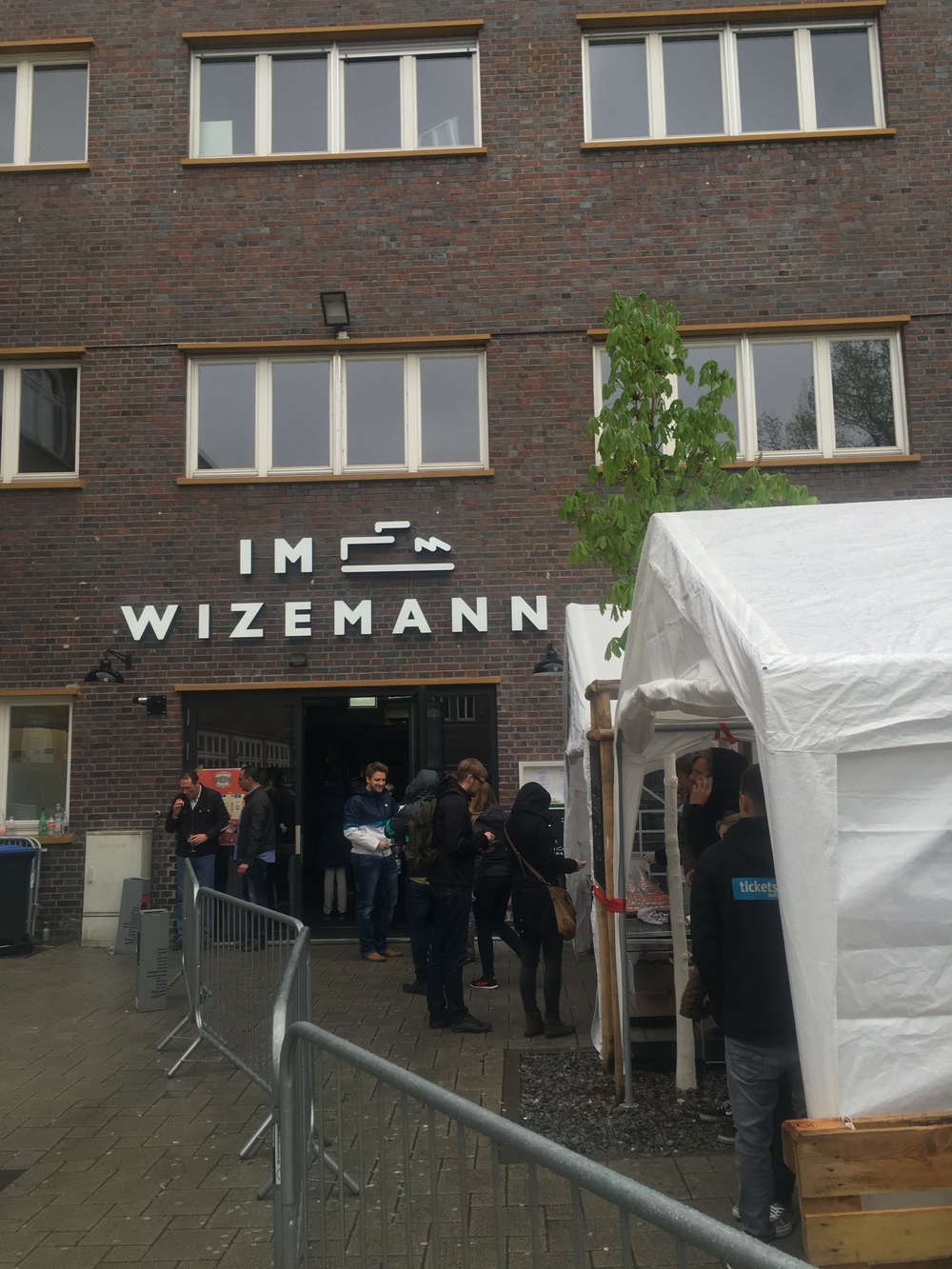The entrance to the craft beer festival at  Im Wizemann
