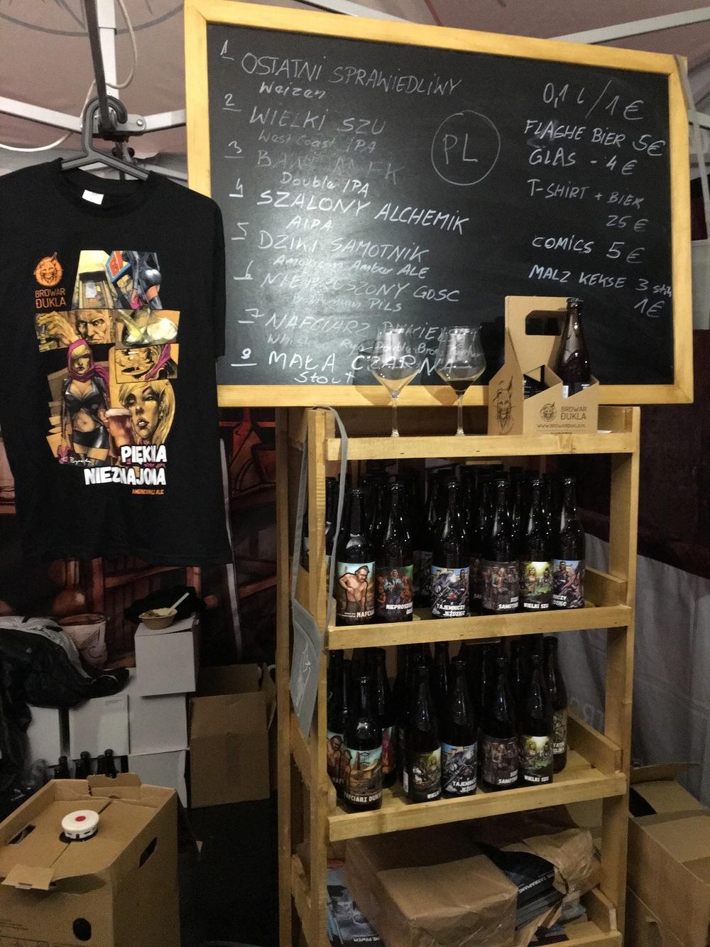 A peek at  Browar Dukla's  beer selection