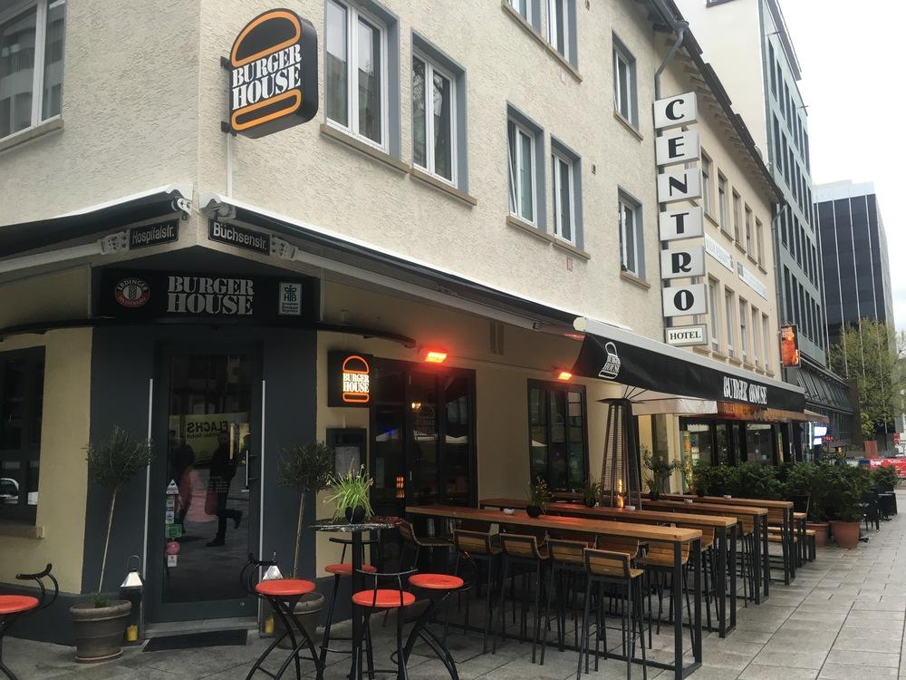 Location on Büchsenstrassein downtown Stuttgart