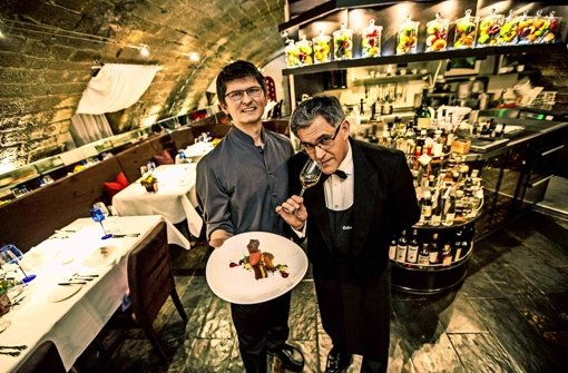 The owners: Chef Andreas Hettinger and Sommelier Evangelos Pattas (photo from the   Stuttgarter Zeitung 's review of  Délice  )