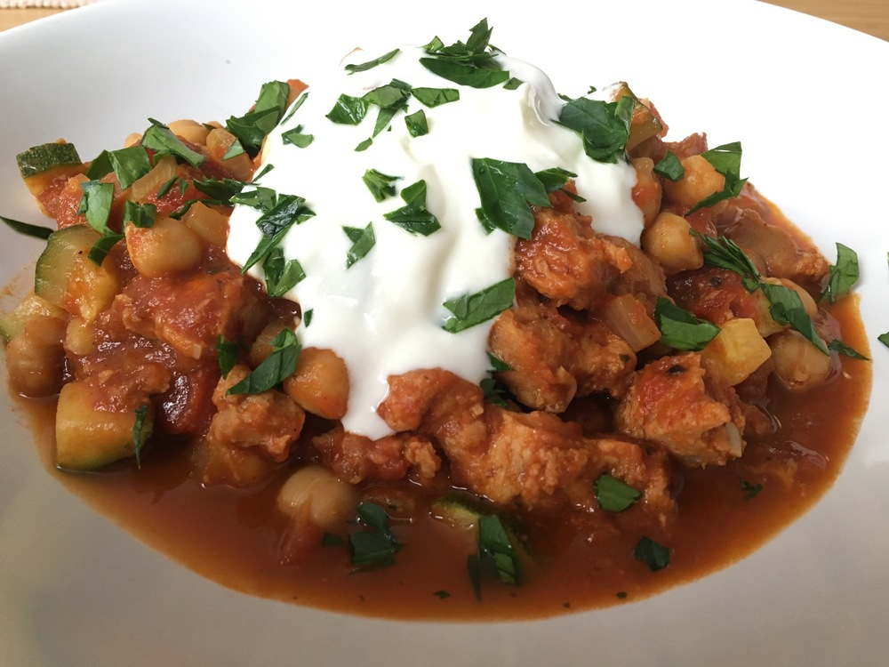 Soy and Chickpea Chili