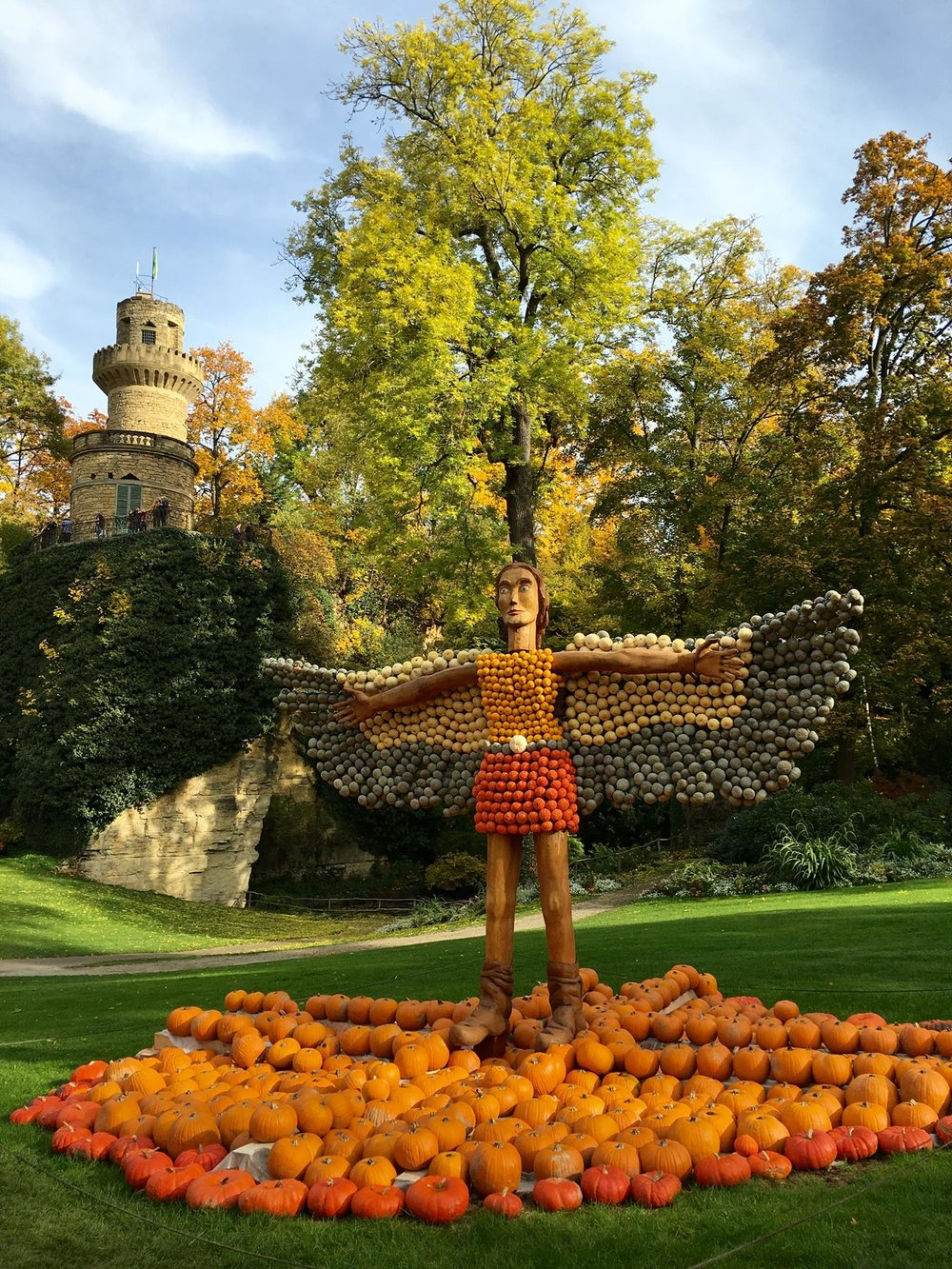"The theme of last year's Pumpkin Festival: ""Flight"""