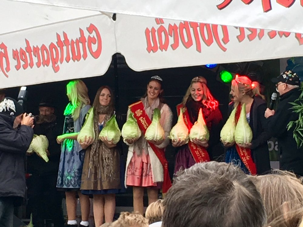 The cabbage holding contest at the Filderkraut Festival