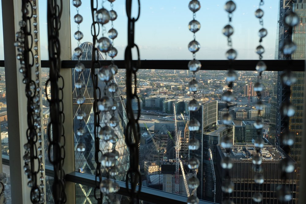 The view of London from Duck and Waffle's bar