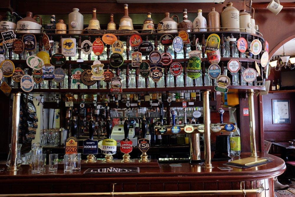 A traditional British pub
