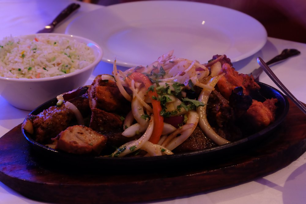 Mixed grill plate at Cinnamon
