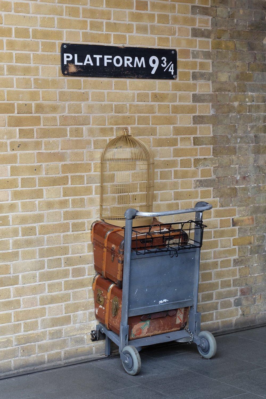 Platform 9-3/4 at King's Cross Station