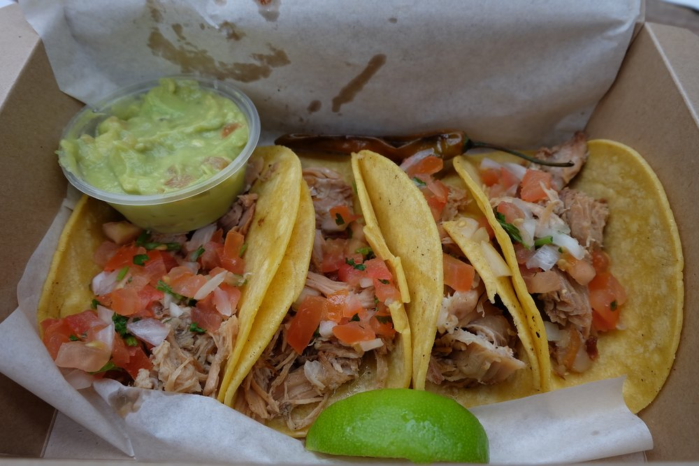 Carnitas tacos from Al Chile