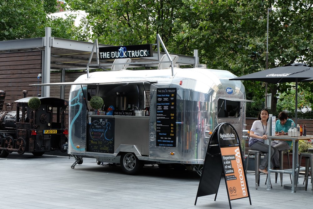 The Duck Truck at Spitalfields Market
