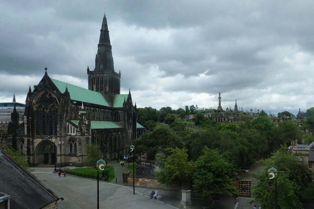 Glasgow Cathedral with the Necropolis in the background