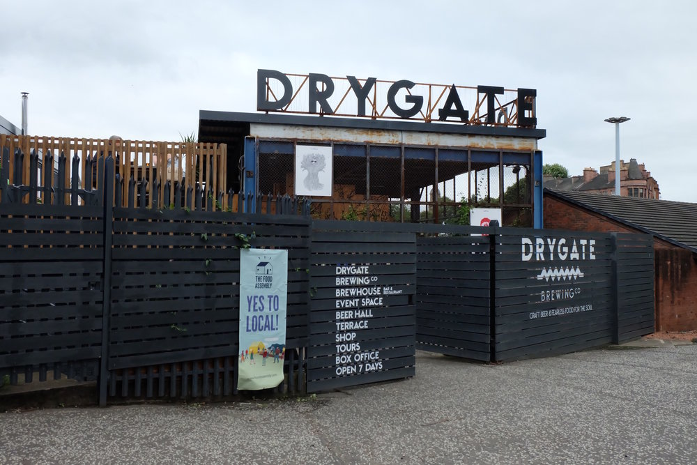 The local Drygate Brewery