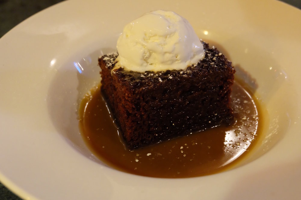 Sticky Toffee Pudding at Whiski in Edinburgh