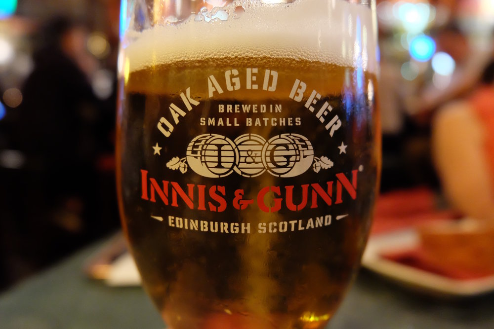 Innis & Gunn Oak-Aged Beer at Whiski in Edinburgh
