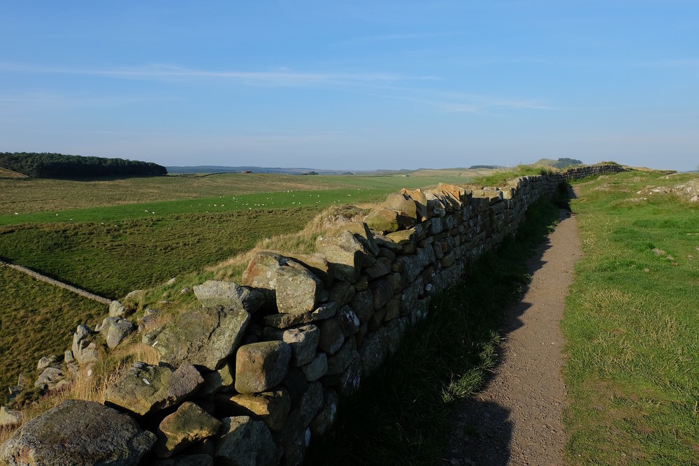 Hadrian's Wall outside of Newcastle