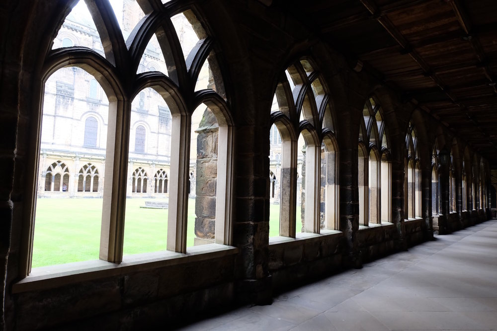 The cloisters at Durham Cathedral