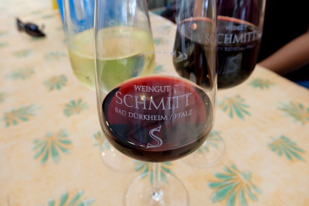 Spätburgunder  and  Merlot  at  Weingut Egon Schmitt