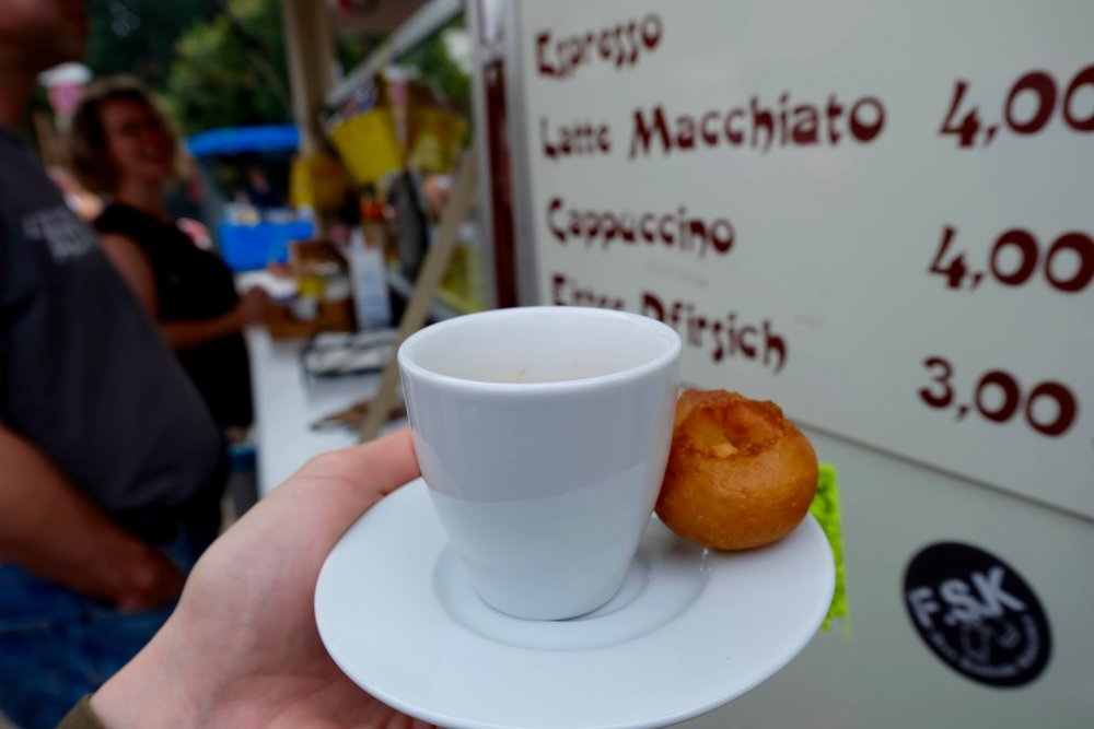 Espresso with mini-donuts