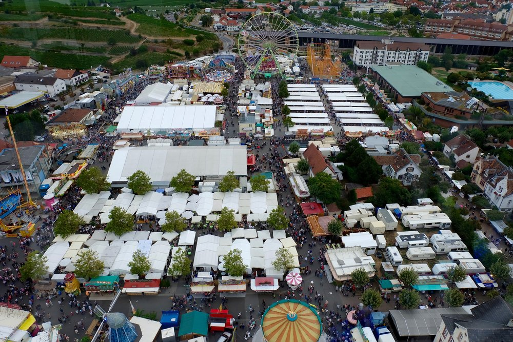 The festival from the CitySkyliner ride