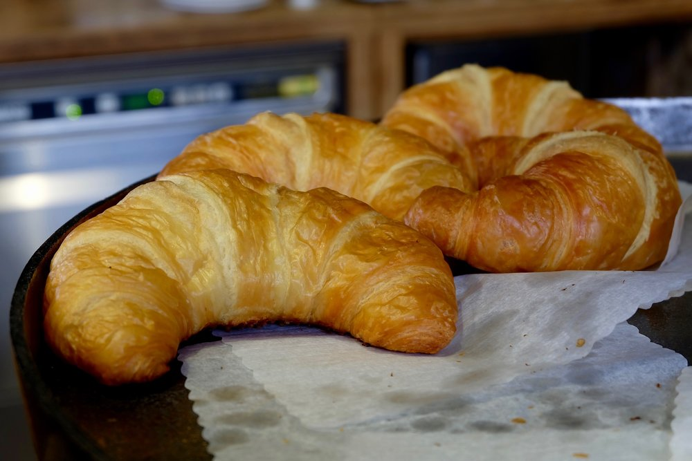 Buttery  croissants  at    Blank Roast Kaffeemanufakturer
