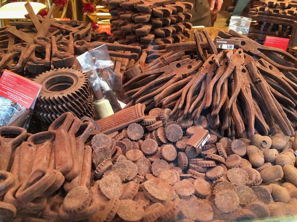 Chocolate tools at Tübingen's chocolate festival 2015