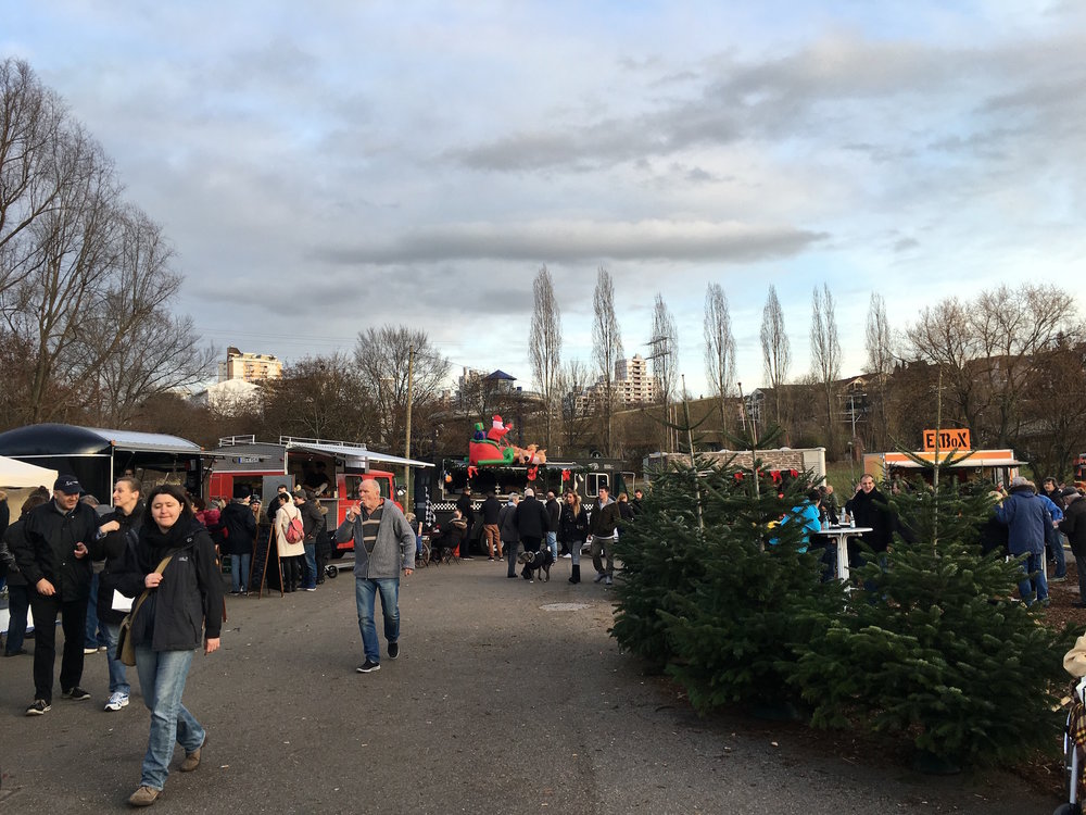 Last year's Foodtruck Christmas Market in Zuffenhausen