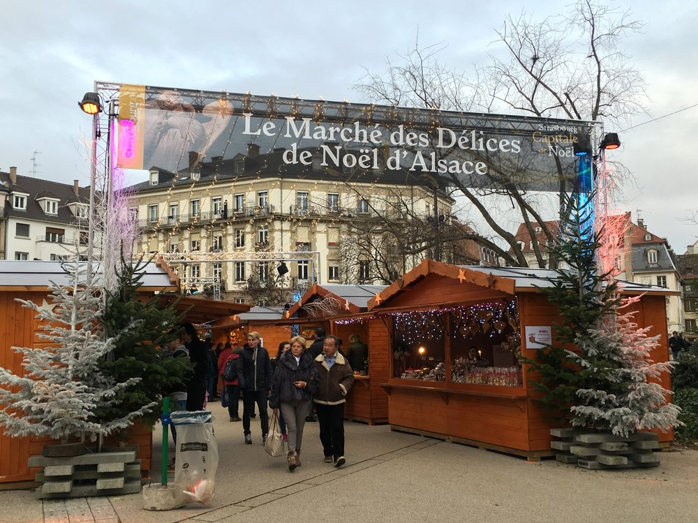 One section of the Strasbourg Christmas Market 2015