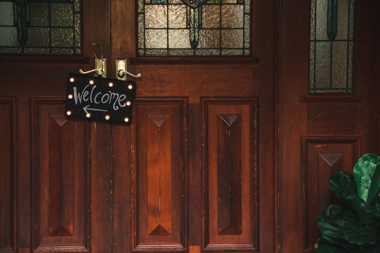welcome-sign-front-door-engagement-party
