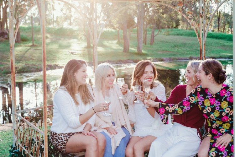 south-coast-nsw-bridal-party-champagne-toast