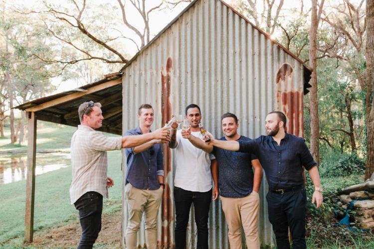 groomsmen-toast-wilton-nsw-engagement-photoshoot