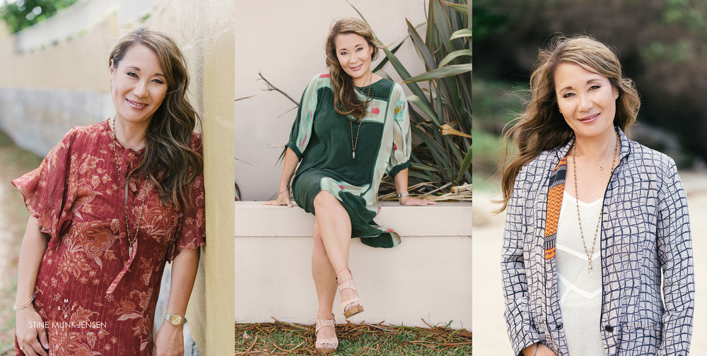 Three different looks for Kathy - all in one location.