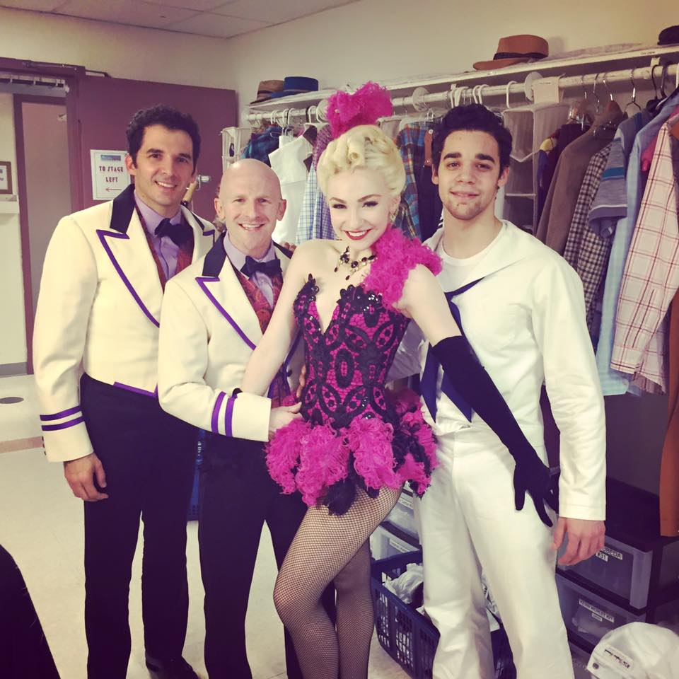 Chip Abbott (second from left) with Kevin Worley, Paloma Garcia-Lee and David Alvarez in Broadway's On The Town.