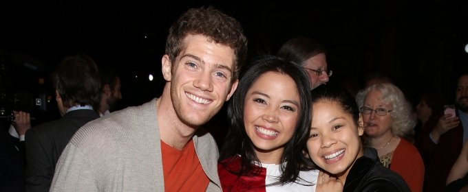 Catherine Ricafort (center, with Alistair Brammer and Eva Noblezada