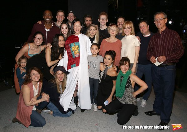 MaryAnn Hu (center, in Gypsy Robe) with the company of Sunday in the Park with George