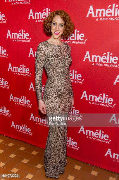 Alison Cimmet on opening night of Amelie