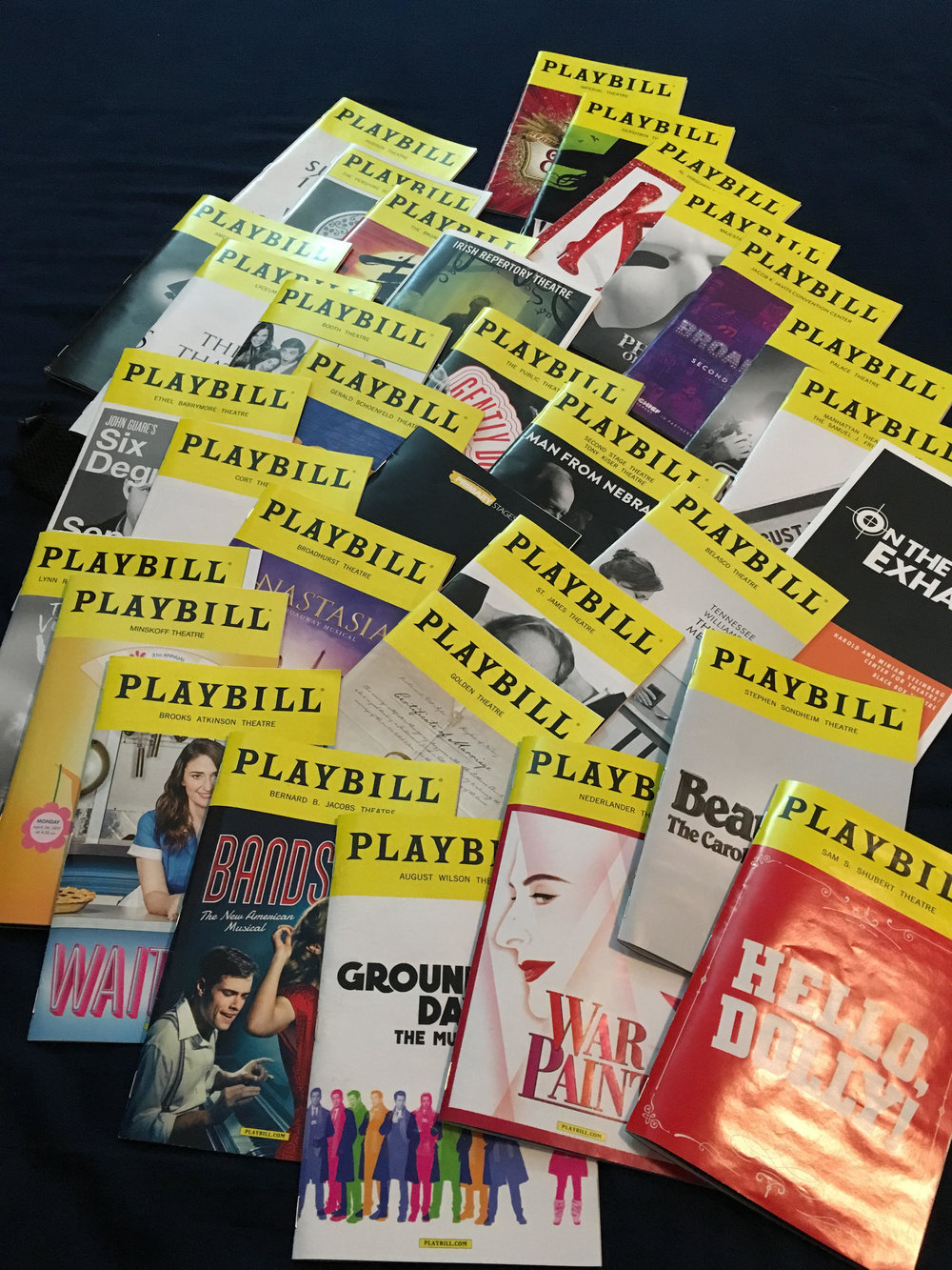 Chad's Playbills from the Spring 2017 Broadway season