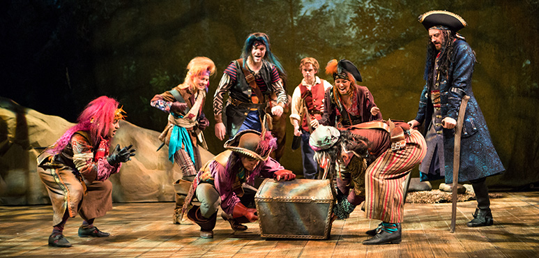 Tahirih Vejdani (left) and the Stratford Shakespeare Festival cast of  Treasure Island