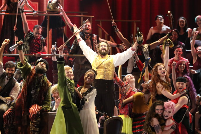 The cast of  Natasha, Pierre and the Great Comet of 1812  at the 2017 Tony Awards